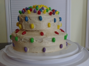 Inside Out Cake using Jelly Belly Jelly Beans