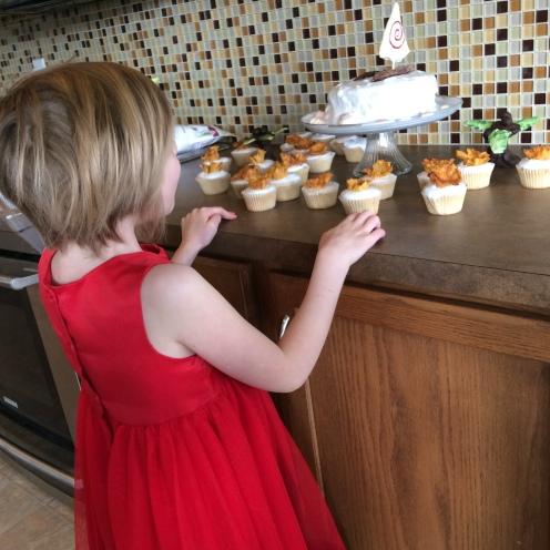 She loves her cake!